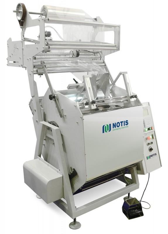 наклонный горизонтальный упаковочный полуавтомат МГУ-НОТИС-НК-375